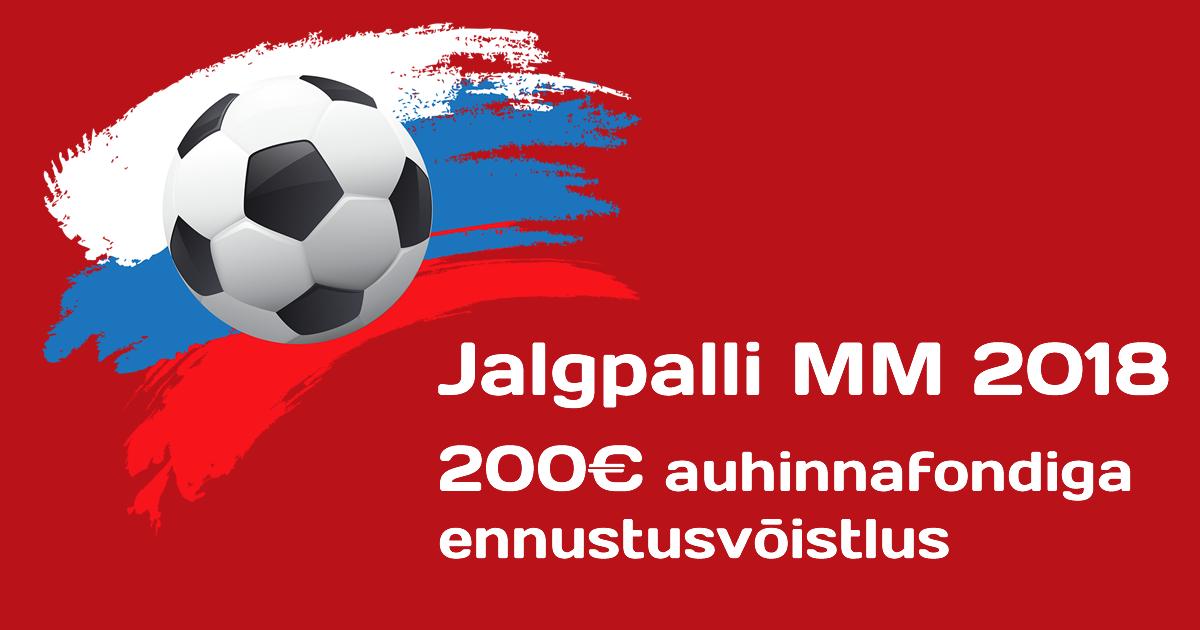 4bc457b455d Jalgpalli MM 2018 - ennustusvõistlus 200€ auhinnafondiga | bettimine.ee